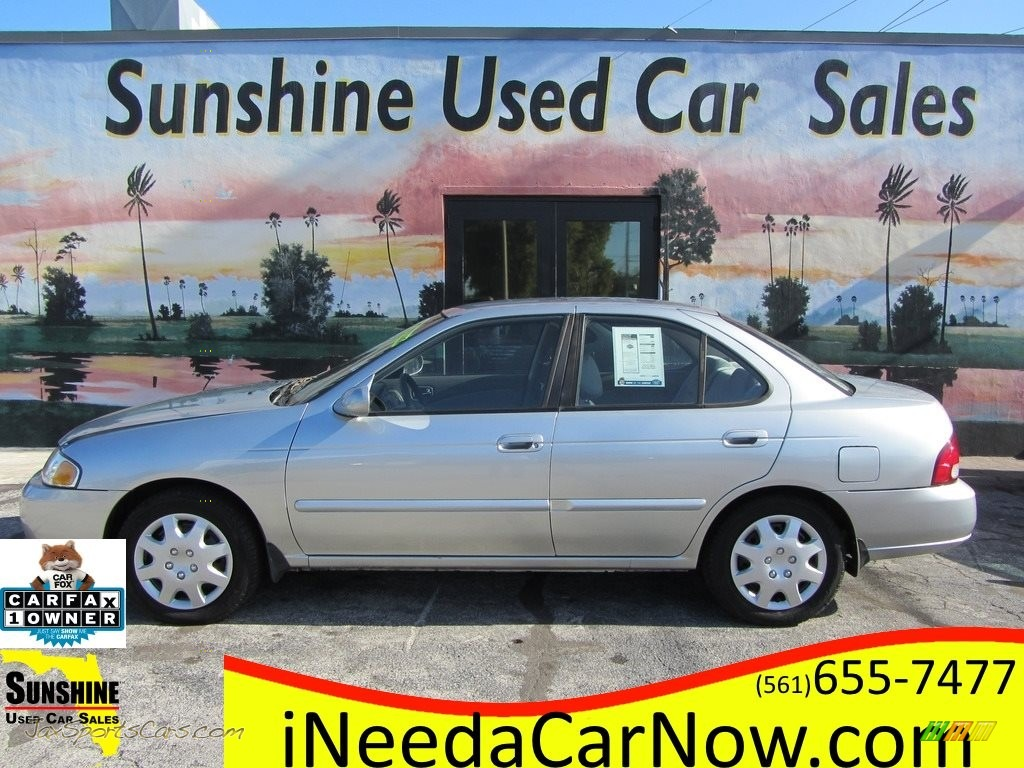 2003 Sentra GXE - Molten Silver / Stone Gray photo #1