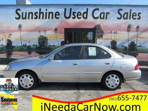 Molten Silver 2003 Nissan Sentra GXE