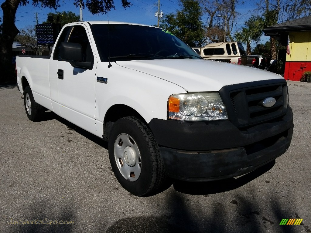 2007 F150 XL Regular Cab - Oxford White / Tan photo #1