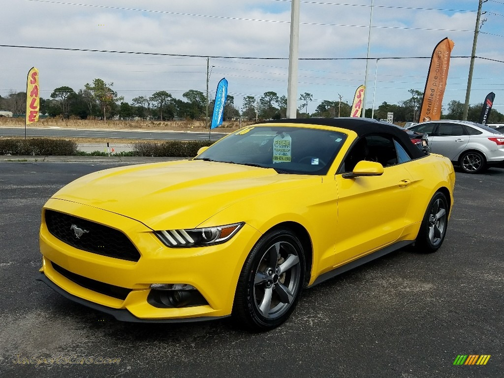 2016 Mustang V6 Convertible - Triple Yellow Tricoat / Ebony photo #1
