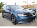 Volkswagen Jetta SE Silk Blue Metallic photo #2