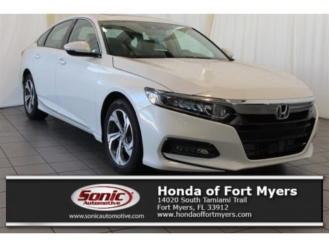 Platinum White Pearl 2018 Honda Accord EX-L Sedan