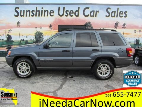 Steel Blue Pearlcoat 2002 Jeep Grand Cherokee Laredo