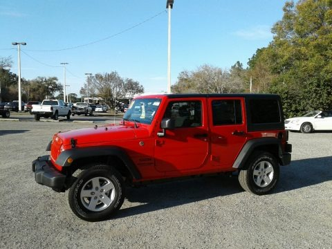 Firecracker Red 2018 Jeep Wrangler Unlimited Sport 4x4