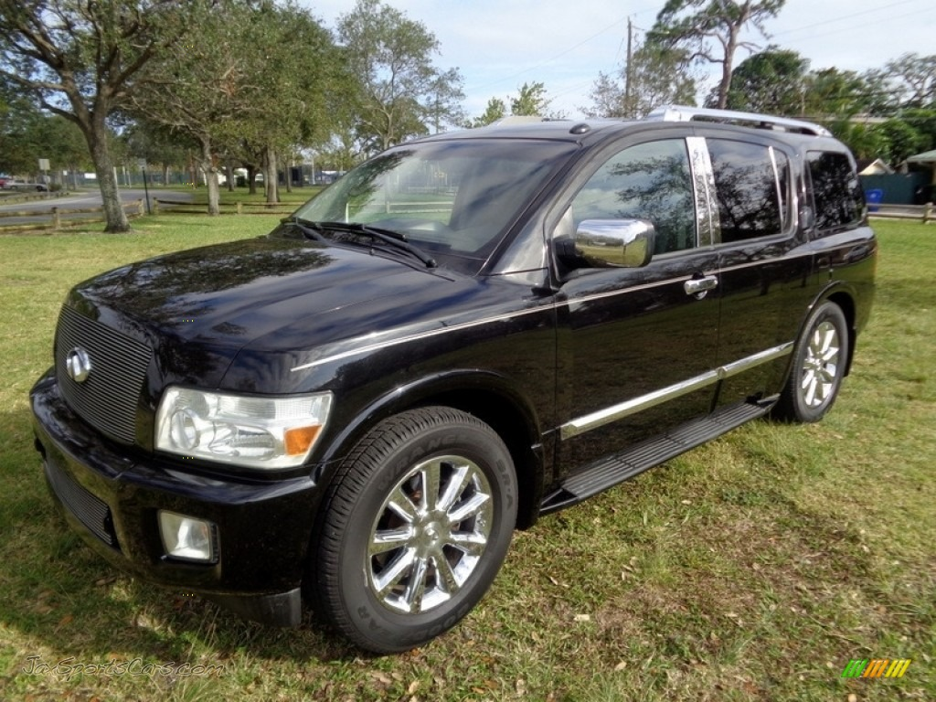2007 QX 56 - Liquid Onyx Black / Graphite Black photo #1