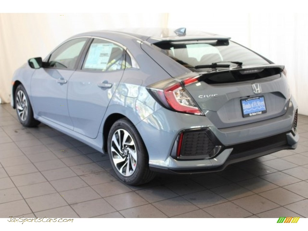 2018 Civic LX Hatchback - Sonic Gray Metallic / Black photo #6