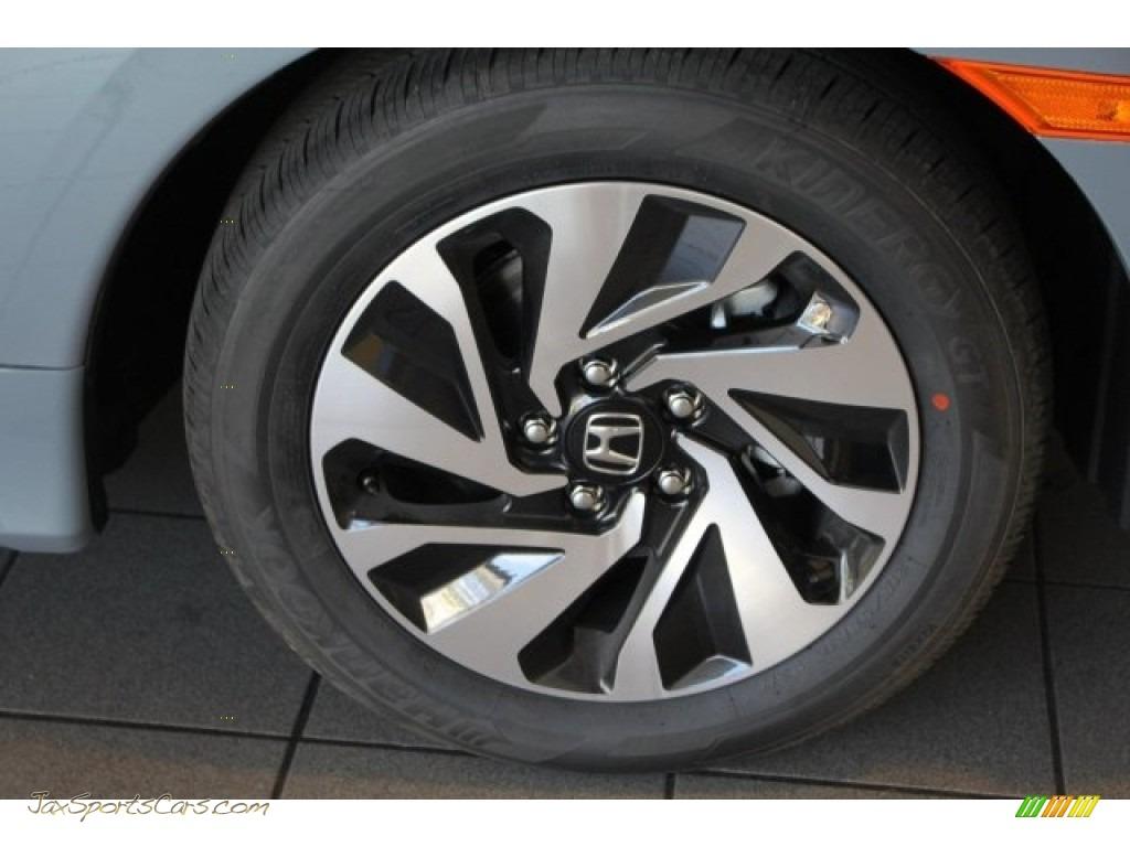 2018 Civic LX Hatchback - Sonic Gray Metallic / Black photo #8