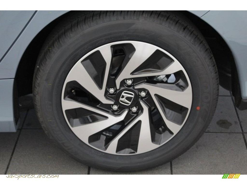 2018 Civic LX Hatchback - Sonic Gray Metallic / Black photo #11