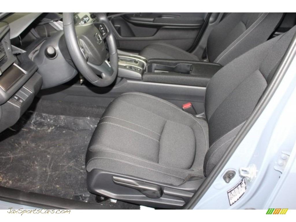 2018 Civic LX Hatchback - Sonic Gray Metallic / Black photo #14