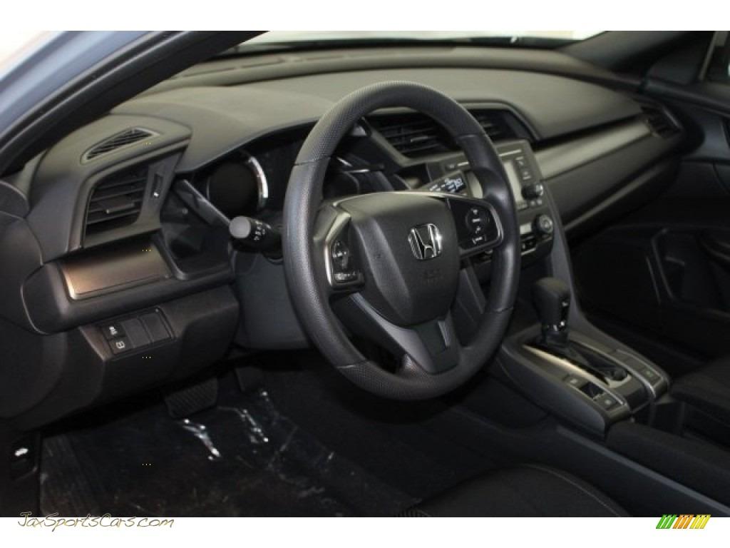 2018 Civic LX Hatchback - Sonic Gray Metallic / Black photo #15