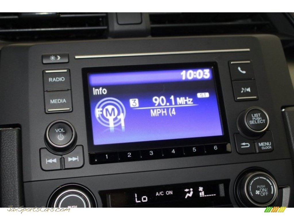 2018 Civic LX Hatchback - Sonic Gray Metallic / Black photo #20