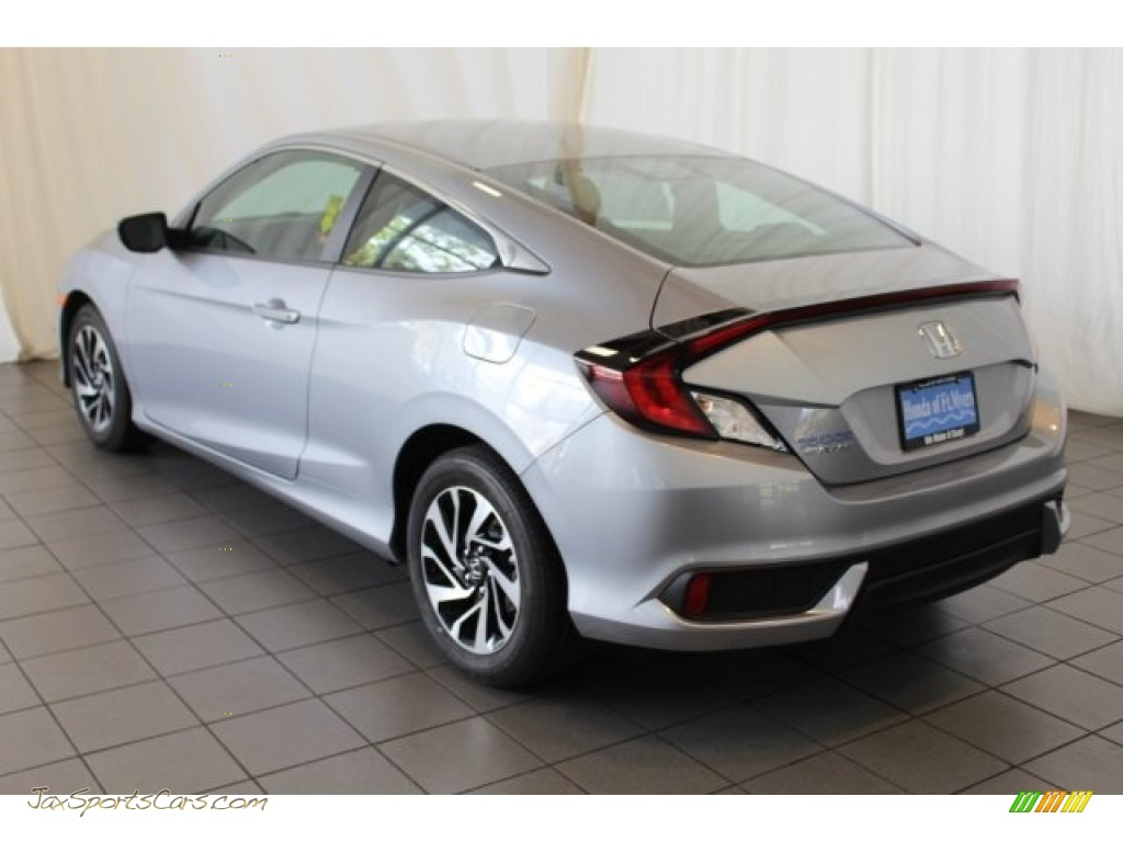 2018 Civic LX Coupe - Lunar Silver Metallic / Gray photo #7