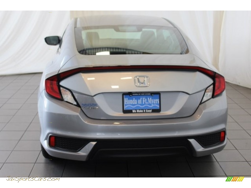 2018 Civic LX Coupe - Lunar Silver Metallic / Gray photo #8