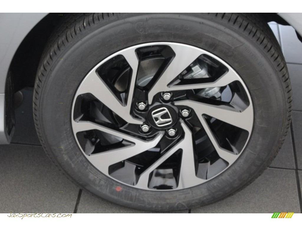 2018 Civic LX Coupe - Lunar Silver Metallic / Gray photo #13