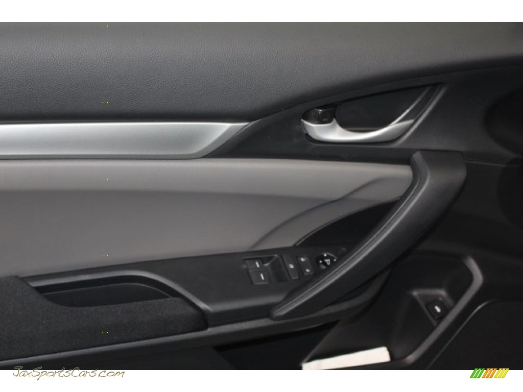 2018 Civic LX Coupe - Lunar Silver Metallic / Gray photo #15