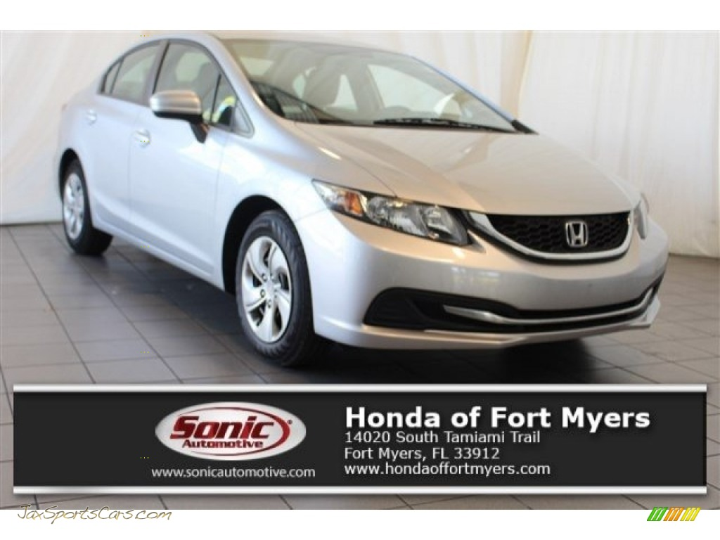2015 Civic LX Sedan - Alabaster Silver Metallic / Gray photo #1