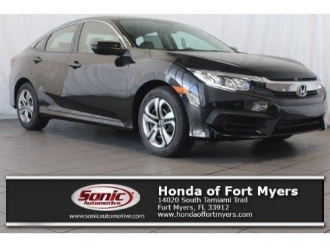 Crystal Black Pearl 2018 Honda Civic LX Sedan
