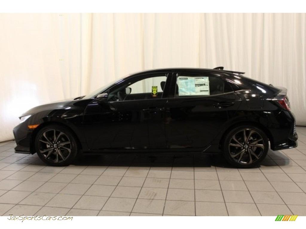 2018 Civic Sport Touring Hatchback - Crystal Black Pearl / Black photo #4
