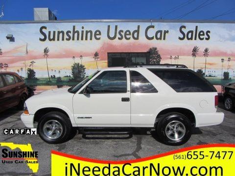 Summit White 2002 Chevrolet Blazer LS