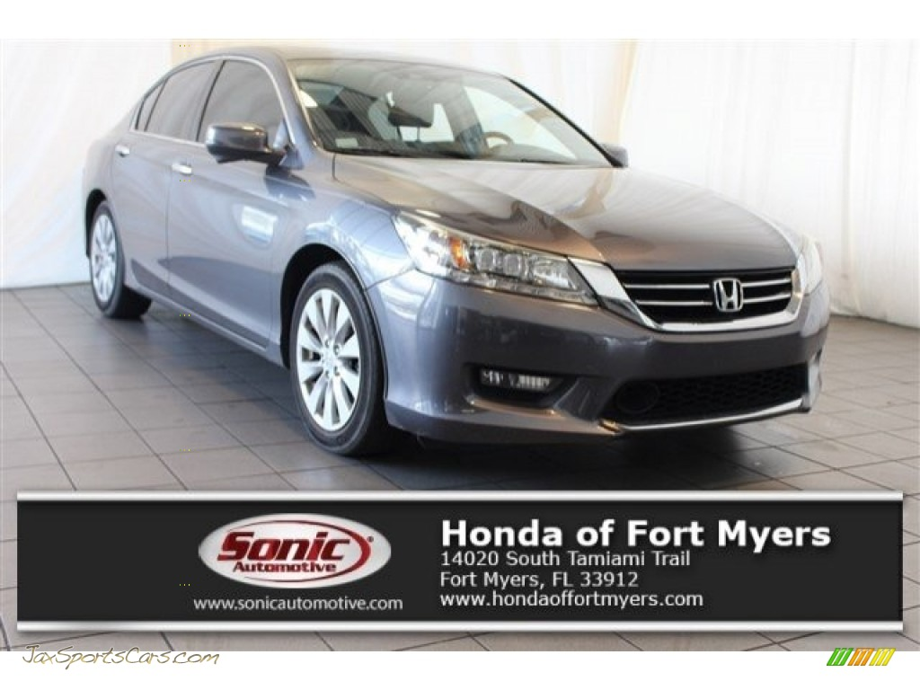 2014 Accord Touring Sedan - Modern Steel Metallic / Gray photo #1