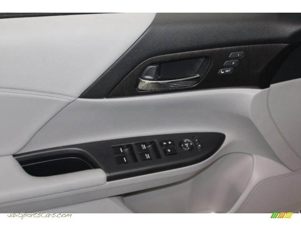2014 Accord Touring Sedan - Modern Steel Metallic / Gray photo #14
