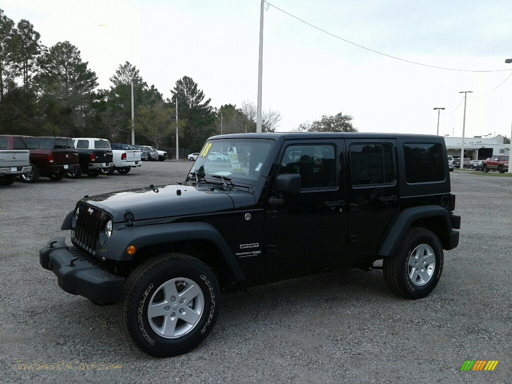 2018 Wrangler Unlimited Sport 4x4 - Black / Black photo #1
