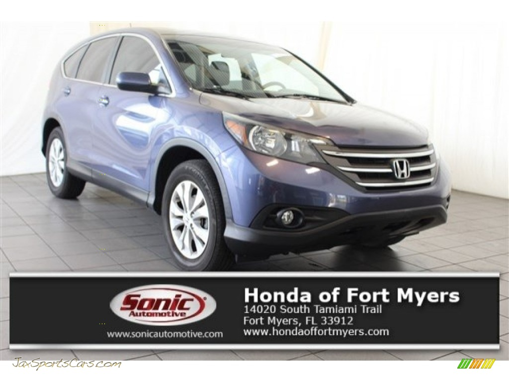 Twilight Blue Metallic / Beige Honda CR-V EX