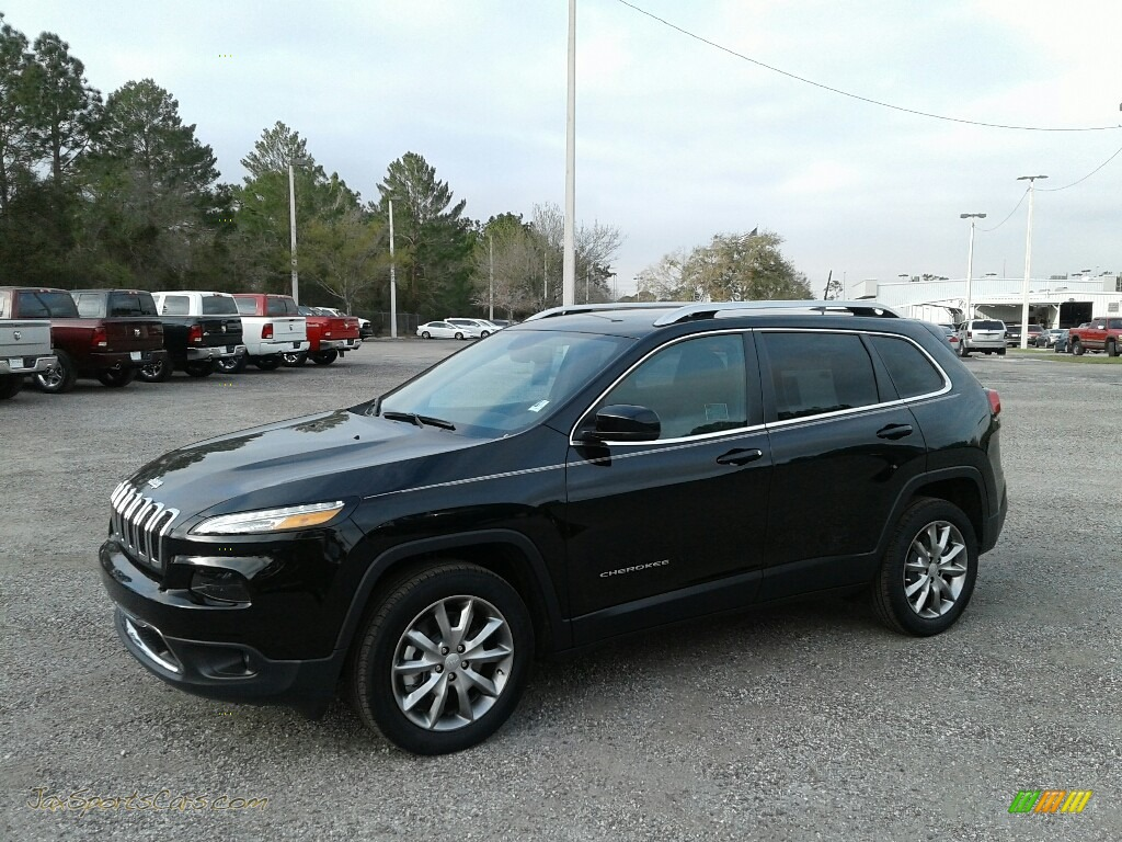 2018 Cherokee Limited - Diamond Black Crystal Pearl / Black photo #1