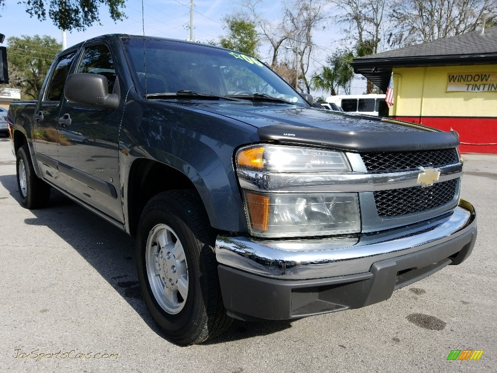 2006 Colorado LT Crew Cab - Blue Granite Metallic / Very Dark Pewter photo #1