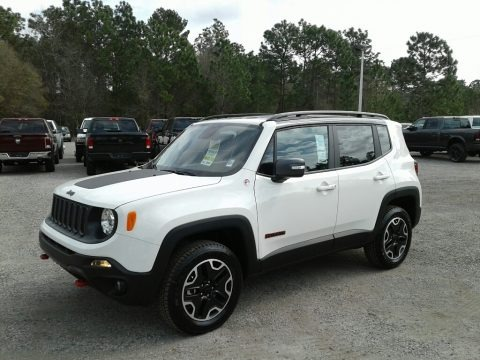Alpine White 2017 Jeep Renegade Trailhawk 4x4
