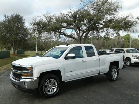 Summit White 2018 Chevrolet Silverado 1500 LT Double Cab