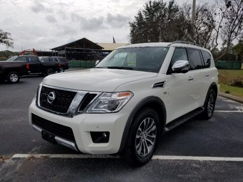 Pearl White 2018 Nissan Armada SL