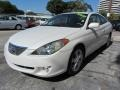 Toyota Solara SE V6 Coupe Arctic Frost Pearl White photo #3