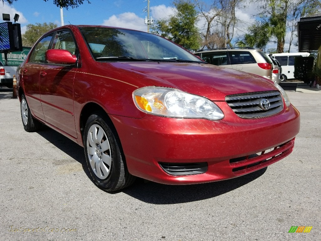 2004 Corolla LE - Impulse Red / Pebble Beige photo #1