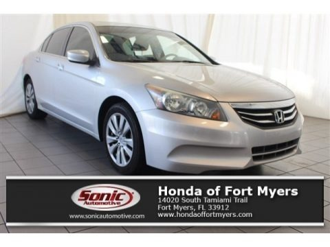 Alabaster Silver Metallic 2011 Honda Accord EX-L Sedan