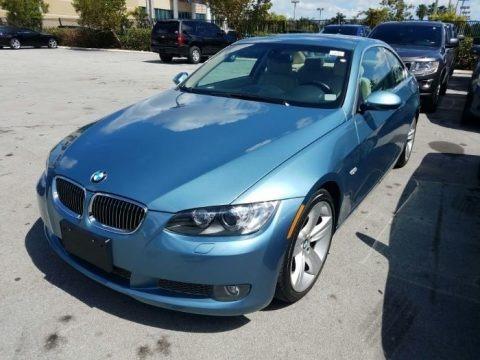 Atlantic Blue Metallic 2008 BMW 3 Series 335i Coupe