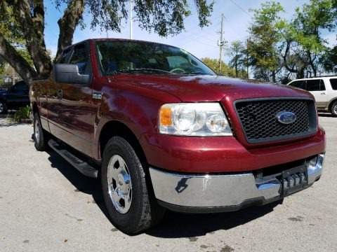 Dark Toreador Red Metallic 2005 Ford F150 XLT SuperCab