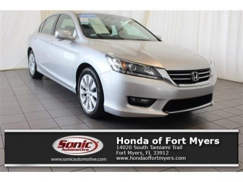 Alabaster Silver Metallic 2015 Honda Accord EX-L Sedan