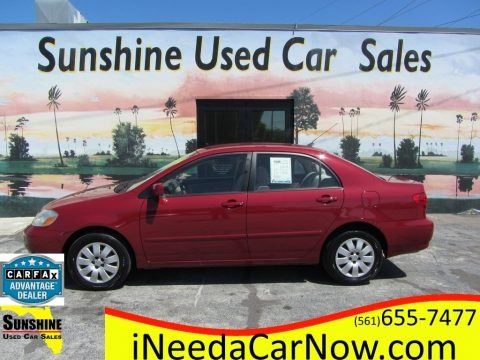 Impulse Red 2004 Toyota Corolla LE