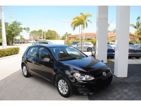 Black 2015 Volkswagen Golf 4 Door 1.8T S