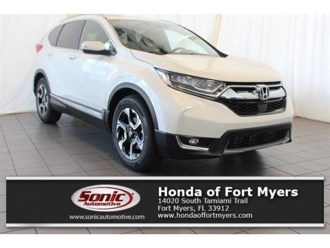 White Diamond Pearl 2018 Honda CR-V Touring
