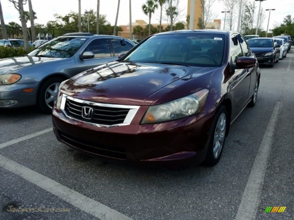 2008 Accord EX-L Sedan - Basque Red Pearl / Ivory photo #1