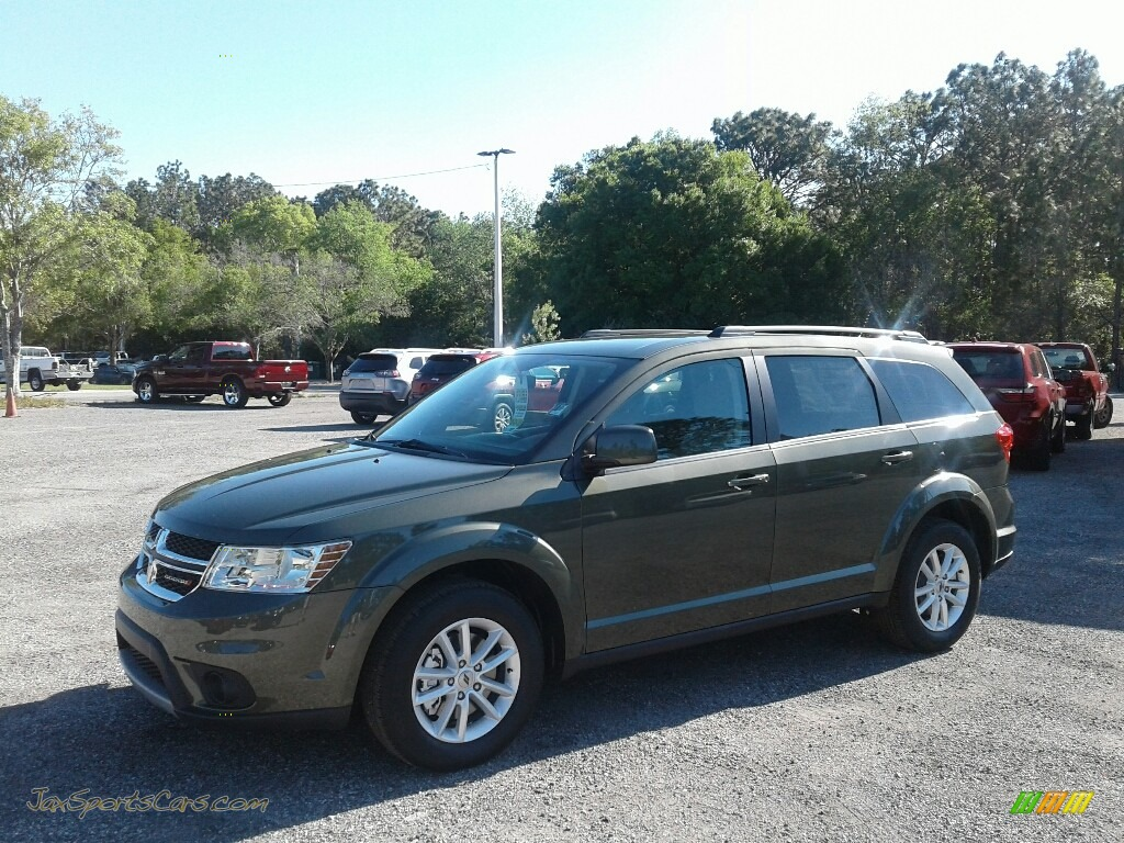 Olive Green / Black/Light Frost Beige Dodge Journey SXT