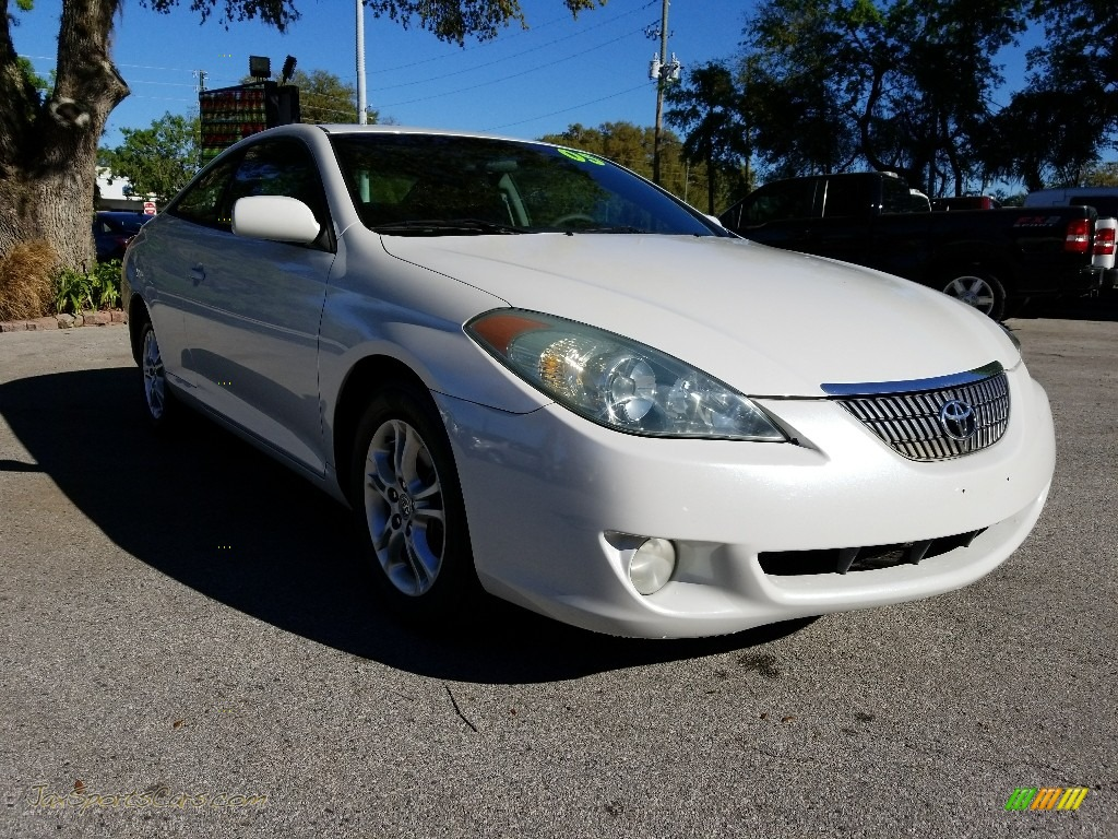 2005 Solara SE V6 Coupe - Arctic Frost Pearl White / Dark Stone photo #1