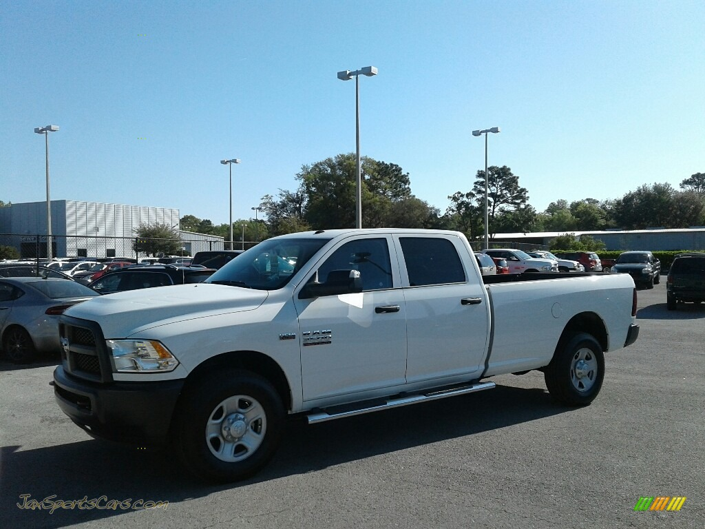 2018 3500 Tradesman Crew Cab - Bright White / Black/Diesel Gray photo #1