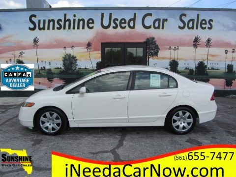 Taffeta White 2006 Honda Civic LX Sedan
