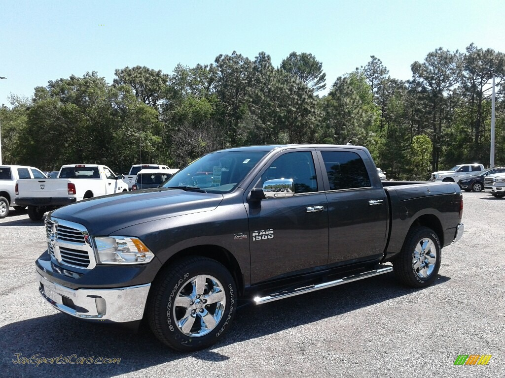 2018 1500 Big Horn Crew Cab - Granite Crystal Metallic / Black/Diesel Gray photo #1