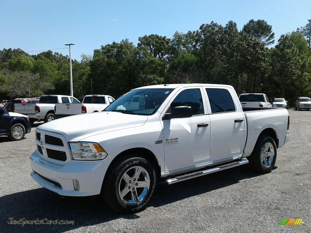 Bright White / Black/Diesel Gray Ram 1500 Express Crew Cab