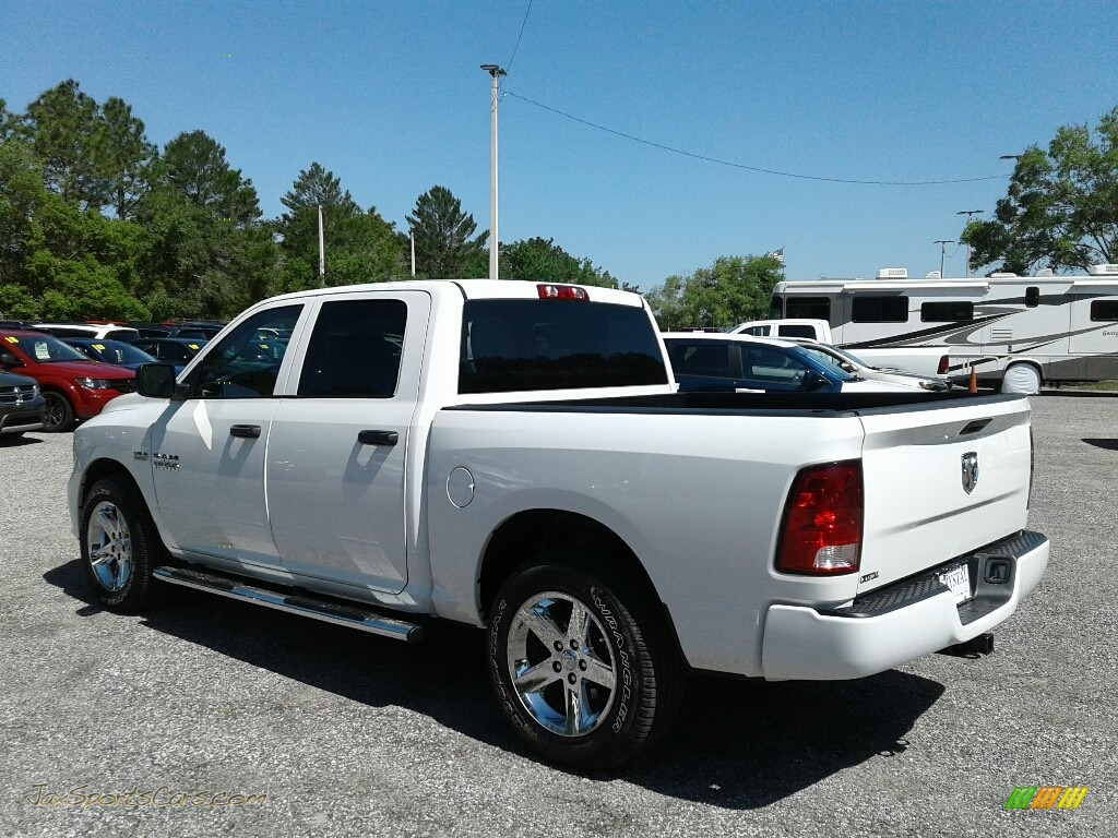 2018 1500 Express Crew Cab - Bright White / Black/Diesel Gray photo #3