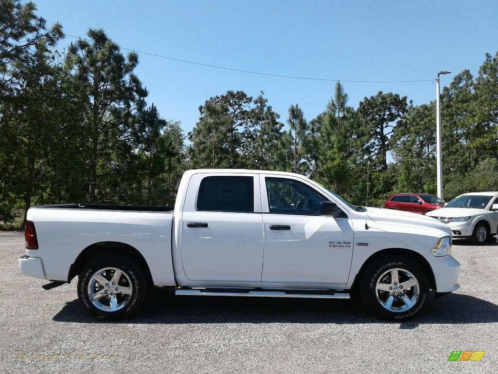 2018 1500 Express Crew Cab - Bright White / Black/Diesel Gray photo #6